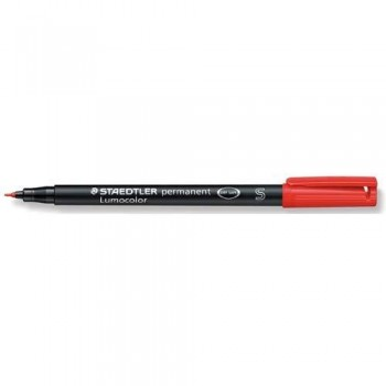 ROTULADOR PERMANENTE PUNTA S 0,4 MM ROJO LUMOCOLOR 313 SUPERFINO STAEDTLER