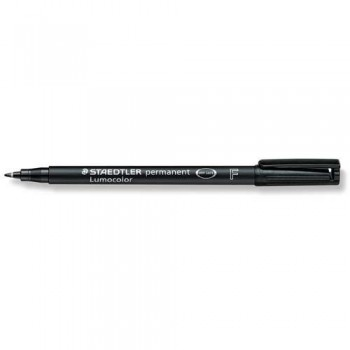 ROTULADOR PERMANENTE PUNTA F 0,6 MM NEGRO LUMOCOLOR 318 SUPERFINO STAEDTLER