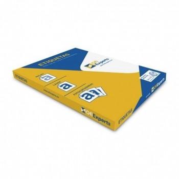 Etiquetas adhesivas multifunción A4 70x37 mm caja 24 x 100 hojas cantos rectos Ofiexperts