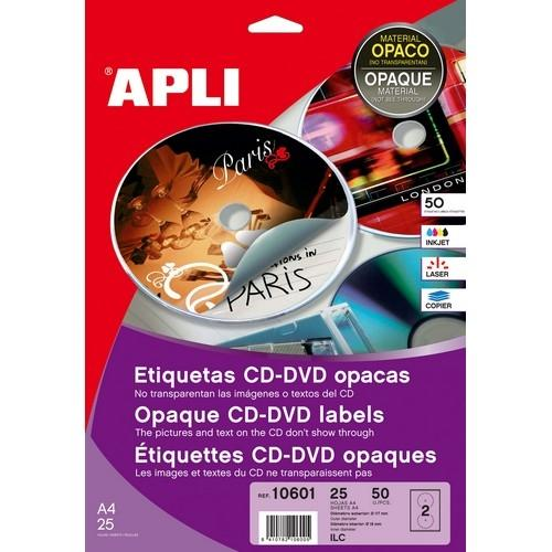 ETIQUETAS MEGA CD-DVD 117 MM.. DIN A6