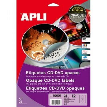 ETIQUETAS MEGA CD-DVD 117 MM.. DIN A6