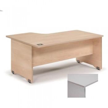 MESA L DERECHA WORK 180X120 ESTRUCTURA COLOR ALUMINIO TABLERO GRIS