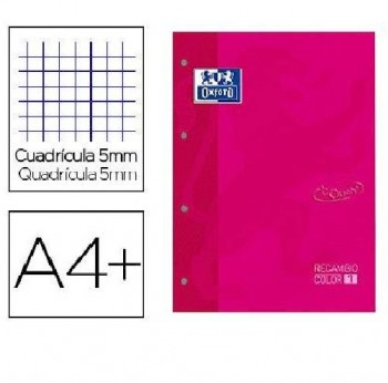 RECAMBIO OXFORD COLOR 1 FUCSIA CUADRO 5x5 MM.