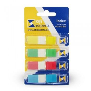 INDEX pequeño 4 COLORES CON DISPENSADOR COLORES STD 4X36 OFIEXPERTS