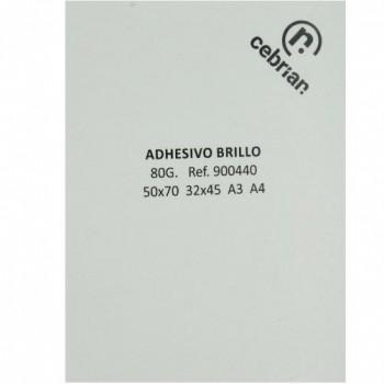 100 HOJAS PAPEL ADHESIVO C/ CORTES 42.0X29.7 A3 BRILLO