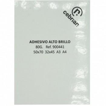 50 HOJAS PAPEL ADHESIVO C/ CORTES 42.0X29.7 A3 ALTO BRILLO