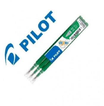PACK 3 RECAMBIOS BOLIGRAFO PILOT FRIXION VERDE