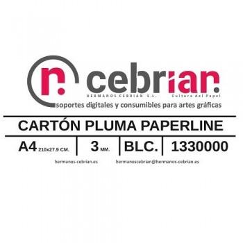 CAJA 80 HOJAS CARTON PLUMA 3MM DIN-A4 PAPERLINE