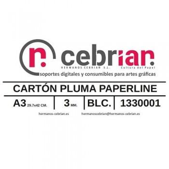 CAJA 40 HOJAS CARTON PLUMA 3MM DIN A3 PAPERLINE