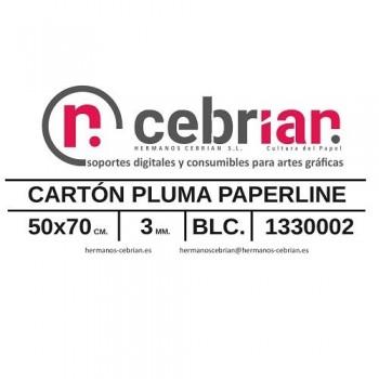 HOJA CARTON PLUMA 50X70 3MM PAPERLINE