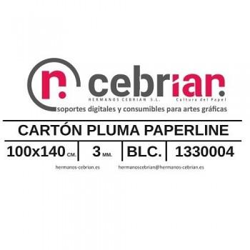 HOJA CARTON PLUMA 100X140 3MM PAPERLINE