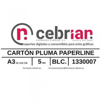 CAJA 25 HOJAS CARTON PLUMA 5MM A3 PAPERLINE