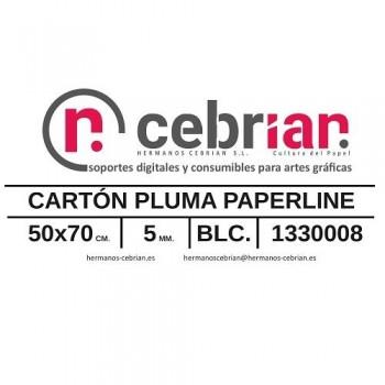HOJA CARTON PLUMA 50X70 5MM PAPERLINE
