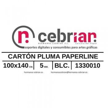 HOJA CARTON PLUMA 5MM 100X140 PAPERLINE