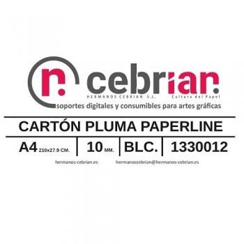 CAJA 30 HOJAS CARTON PLUMA DIN-A4 10MM PAPERLINE