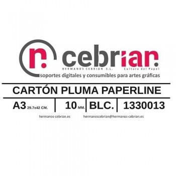 CAJA 15 HOJAS CARTON PLUMA A3 10MM PAPERLINE