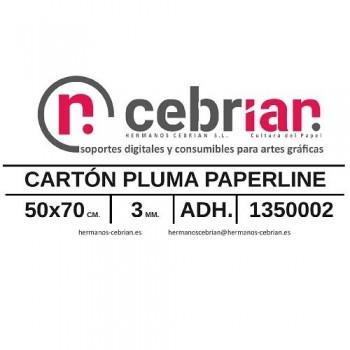 HOJA CARTON PLUMA 50X70 3MM ADHESIVO 1 CARA PAPERLINE