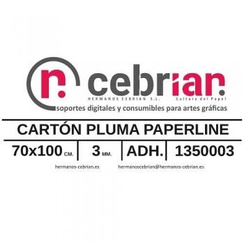 HOJA CARTON PLUMA 70X100 3MM ADHESIVO 1 CARA PAPERLINE