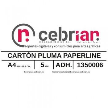 CAJA 50 HOJAS CARTON PLUMA DIN-A4 5MM ADHESIVO 1 CARA PAPERLINE