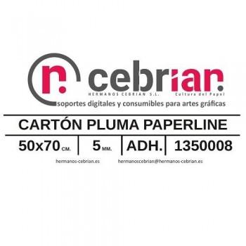 HOJA CARTON PLUMA 50X70 5MM ADHESIVO 1 CARA PAPERLINE