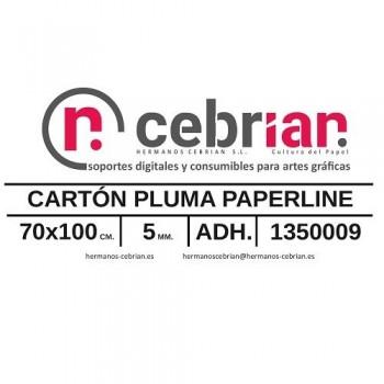 HOJA CARTON PLUMA 70X100 5MM ADHESIVO 1 CARA PAPERLINE
