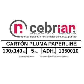 HOJA CARTON PLUMA 100X140 5MM ADHESIVO 1 CARA PAPERLINE