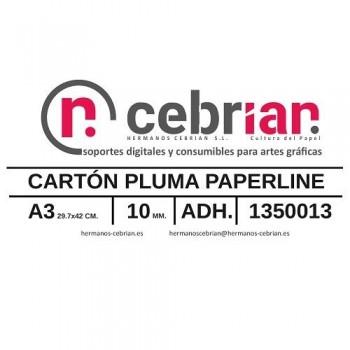 CAJA 15 HOJAS CARTON PLUMA DIN-A3 10MM ADHESIVO 1 CARA PAPERLINE