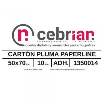 HOJA CARTON PLUMA 50X70 10MM ADHESIVO 1 CARA PAPERLINE