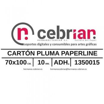 HOJA CARTON PLUMA 70X100 10MM ADHESIVO 1 CARA PAPERLINE