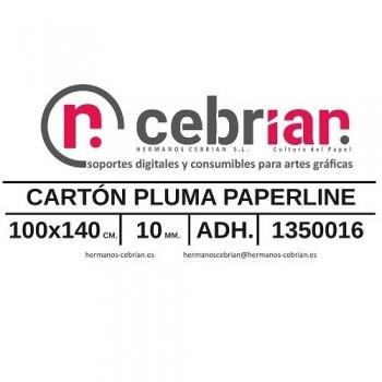 HOJA CARTON PLUMA 100X140 10MM ADHESIVO 1 CARA PAPERLINE