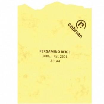 PAQUETE PERGAMINO 25 HOJAS MARMOL BEIGE A4 200G