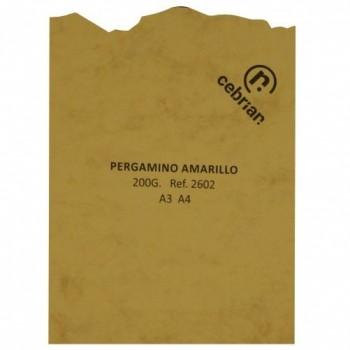 PAQUETE PERGAMINO 25 HOJAS MARMOL AMARILLO A3 200G