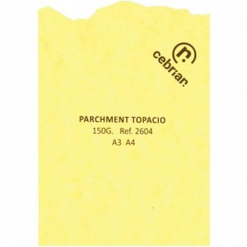 PAQUETE PERGAMINO 25 HOJAS PARCHMENT TOPACIO A3 150G