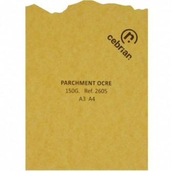 PAQUETE PERGAMINO 25 HOJAS PARCHMENT OCRE A3 150G