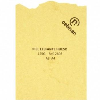 PAQUETE PERGAMINO 25 HOJAS PIEL ELEFANTE HUESO A4 125G