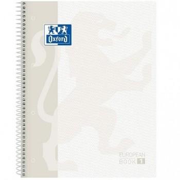 CUADERNO OXFORD EUROPEAN BOOK 1 TAPA EXTRADURA BLANCO CUADRO 5x5 MM.
