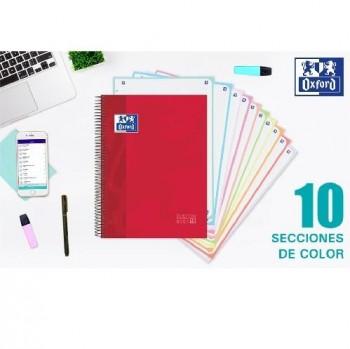 CUADERNO 150H OXFORD EUROPEAN BOOK 10 TAPA EXTRADURA 10 COLORES A4+ 5X5MM