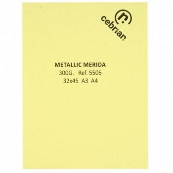 PAQUETE 100 HOJAS A4 220GR. METALLIC MERIDA CREMA