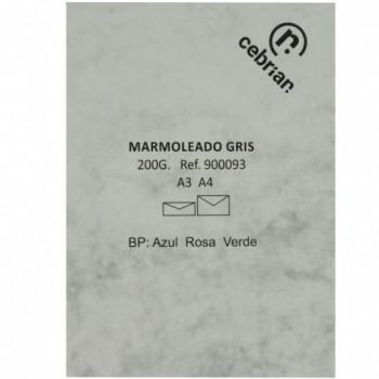 PAQUETE 100 HOJAS A-4 200G MARMOL GRIS