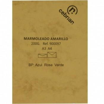PAQUETE 100 HOJAS A-4 200G MARMOL AMARILLO