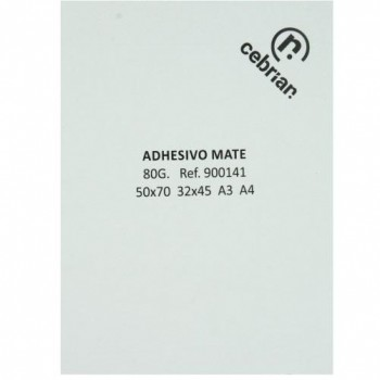 PAQUETE 250H PAPEL ADHESIVO C/ CORTES ADESTOR 50X70 80GR MATE