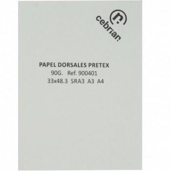 PAQUETE 50 HOJAS 32 x 45 CM. PAPEL PRETEX DIGITAL PARA DORSALES 90GRS.