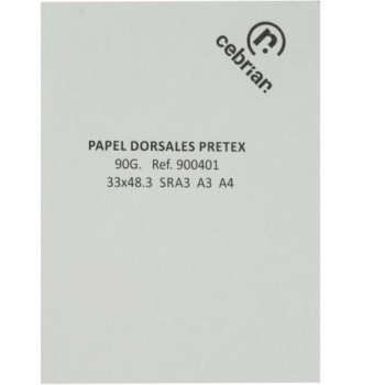 PAQUETE 250 HOJAS 70x100CM. PAPEL PRETEX DIGITAL PARA DORSALES 90GRS.
