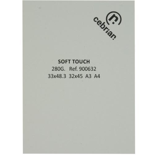 PAQUETE 25 CARTULINAS SOFT TOUCH 280G SRA3