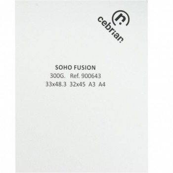 PAQUETE 50 HOJAS 33X48,3 300G SOHO FUSION