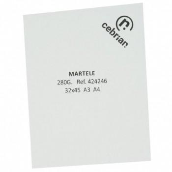 PAQUETE 50 H. CARTULINA MARTELE SRA3 280GR. BLANCO