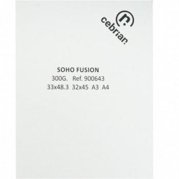 PAQUETE 200 HOJAS SOHO SYMBOL FUSION 300G 52X72