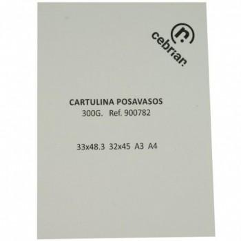 PAQUETE 100 HOJAS 300G PARA POSAVASOS 33X48,3