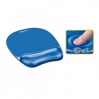 ALFOMBRILLA  REPOSAMUÑECAS GEL FELLOWES AZUL