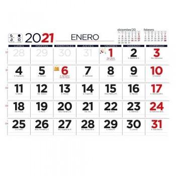 PAQUETE 25 FALDILLAS CALENDARIO  15X10CM CON NOTAS